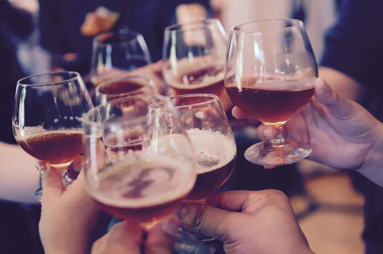 Plusieurs verre d'alcool