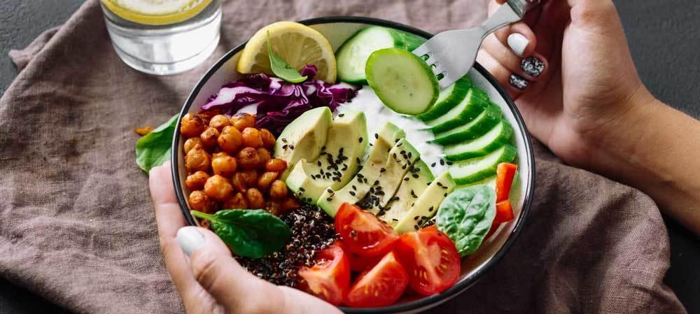 Une alimentation à base de légumes et fibres